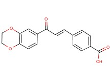 4-[3-(2,3-dihydro-1,4-benzodioxin-6-yl)-3-oxo-1-propen-1-yl]benzoic acid