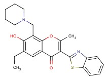 3-(1,3-benzothiazol-2-yl)-6-ethyl-7-hydroxy-2-methyl-8-(1-piperidinylmethyl)-4H-chromen-4-one