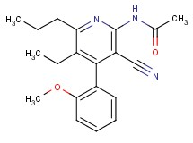 N-[3-cyano-5-ethyl-4-(2-methoxyphenyl)-6-propyl-2-pyridinyl]acetamide