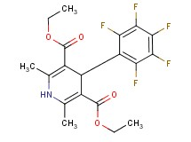 diethyl 2,6-dimethyl-4-(pentafluorophenyl)-1,4-dihydro-3,5-pyridinedicarboxylate