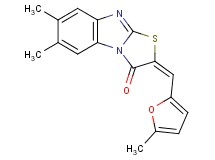 6,7-dimethyl-2-[(5-methyl-2-furyl)methylene][1,3]thiazolo[3,2-a]benzimidazol-3(2H)-one