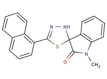 1-methyl-5'-(1-naphthyl)-3'H-spiro[indole-3,2'-[1,3,4]thiadiazol]-2(1H)-one