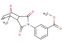 methyl 3-(1-methyl-3,5-dioxo-10-oxa-4-azatricyclo[5.2.1.0~2,6~]dec-8-en-4-yl)benzoate