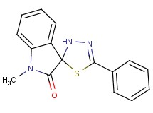 1-methyl-5'-phenyl-3'H-spiro[indole-3,2'-[1,3,4]thiadiazol]-2(1H)-one