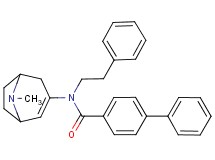 N-(8-methyl-8-azabicyclo[3.2.1]oct-2-en-3-yl)-N-(2-phenylethyl)-4-biphenylcarboxamide hydrochloride