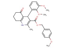 4-methoxybenzyl 4-(2,3-dimethoxyphenyl)-2-methyl-5-oxo-1,4,5,6,7,8-hexahydro-3-quinolinecarboxylate