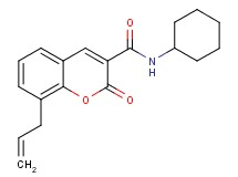 8-allyl-N-cyclohexyl-2-oxo-2H-chromene-3-carboxamide