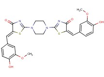 2,2'-(1,4-piperazinediyl)bis[5-(4-hydroxy-3-methoxybenzylidene)-1,3-thiazol-4(5H)-one]