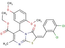 ethyl 2-(2,3-dichlorobenzylidene)-5-(2,5-dimethoxyphenyl)-7-methyl-3-oxo-2,3-dihydro-5H-[1,3]thiazolo[3,2-a]pyrimidine-6-carboxylate