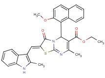 ethyl 5-(2-methoxy-1-naphthyl)-7-methyl-2-[(2-methyl-1H-indol-3-yl)methylene]-3-oxo-2,3-dihydro-5H-[1,3]thiazolo[3,2-a]pyrimidine-6-carboxylate