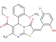 ethyl 2-(5-chloro-2-hydroxybenzylidene)-5-(2-methoxyphenyl)-7-methyl-3-oxo-2,3-dihydro-5H-[1,3]thiazolo[3,2-a]pyrimidine-6-carboxylate