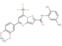 5-(3,4-dimethoxyphenyl)-N-(2-hydroxy-5-methylphenyl)-7-(trifluoromethyl)pyrazolo[1,5-a]pyrimidine-2-carboxamide