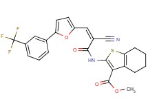 methyl 2-[(2-cyano-3-{5-[3-(trifluoromethyl)phenyl]-2-furyl}acryloyl)amino]-4,5,6,7-tetrahydro-1-benzothiophene-3-carboxylate