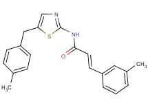 N-[5-(4-methylbenzyl)-1,3-thiazol-2-yl]-3-(3-methylphenyl)acrylamide