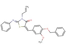 3-allyl-5-[4-(benzyloxy)-3-methoxybenzylidene]-2-(phenylimino)-1,3-thiazolidin-4-one
