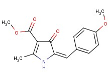 methyl 5-(4-methoxybenzylidene)-2-methyl-4-oxo-4,5-dihydro-1H-pyrrole-3-carboxylate