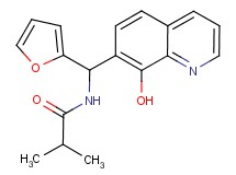 N-[2-furyl(8-hydroxy-7-quinolinyl)methyl]-2-methylpropanamide