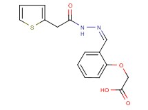 {2-[2-(2-thienylacetyl)carbonohydrazonoyl]phenoxy}acetic acid
