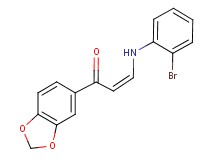 1-(1,3-benzodioxol-5-yl)-3-[(2-bromophenyl)amino]-2-propen-1-one