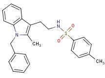 N-[2-(1-benzyl-2-methyl-1H-indol-3-yl)ethyl]-4-methylbenzenesulfonamide