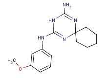 N-(3-methoxyphenyl)-1,3,5-triazaspiro[5.5]undeca-1,4-diene-2,4-diamine