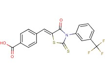 4-({4-oxo-2-thioxo-3-[3-(trifluoromethyl)phenyl]-1,3-thiazolidin-5-ylidene}methyl)benzoic acid