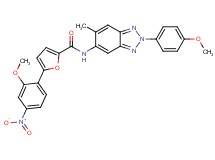 5-(2-methoxy-4-nitrophenyl)-N-[2-(4-methoxyphenyl)-6-methyl-2H-1,2,3-benzotriazol-5-yl]-2-furamide