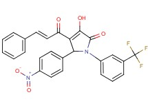 4-cinnamoyl-3-hydroxy-5-(4-nitrophenyl)-1-[3-(trifluoromethyl)phenyl]-1,5-dihydro-2H-pyrrol-2-one