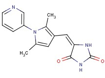 5-{[2,5-dimethyl-1-(3-pyridinyl)-1H-pyrrol-3-yl]methylene}-2,4-imidazolidinedione