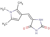 5-[(1,2,5-trimethyl-1H-pyrrol-3-yl)methylene]-2,4-imidazolidinedione