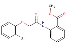 methyl 2-{[(2-bromophenoxy)acetyl]amino}benzoate