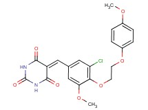 5-{3-chloro-5-methoxy-4-[2-(4-methoxyphenoxy)ethoxy]benzylidene}-2,4,6(1H,3H,5H)-pyrimidinetrione