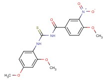 N-{[(2,4-dimethoxyphenyl)amino]carbonothioyl}-4-methoxy-3-nitrobenzamide