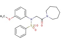 N-[2-(1-azepanyl)-2-oxoethyl]-N-(3-methoxyphenyl)benzenesulfonamide (non-preferred name)