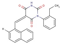 1-(2-ethylphenyl)-5-(1-naphthylmethylene)-2,4,6(1H,3H,5H)-pyrimidinetrione