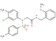 N~2~-(3-chloro-4-methylphenyl)-N~1~-(2-methoxybenzyl)-N~2~-[(4-methylphenyl)sulfonyl]glycinamide