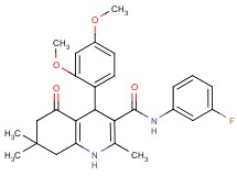 4-(2,4-dimethoxyphenyl)-N-(3-fluorophenyl)-2,7,7-trimethyl-5-oxo-1,4,5,6,7,8-hexahydro-3-quinolinecarboxamide