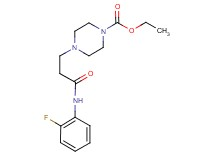 ethyl 4-{3-[(2-fluorophenyl)amino]-3-oxopropyl}-1-piperazinecarboxylate