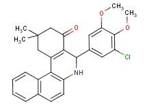 5-(3-chloro-4,5-dimethoxyphenyl)-2,2-dimethyl-2,3,5,6-tetrahydrobenzo[a]phenanthridin-4(1H)-one