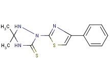 5,5-dimethyl-2-(4-phenyl-1,3-thiazol-2-yl)-1,2,4-triazolidine-3-thione