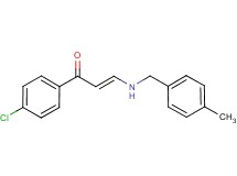 1-(4-chlorophenyl)-3-[(4-methylbenzyl)amino]-2-propen-1-one
