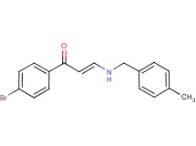 1-(4-bromophenyl)-3-[(4-methylbenzyl)amino]-2-propen-1-one