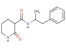 N-(1-methyl-2-phenylethyl)-2-oxo-3-piperidinecarboxamide