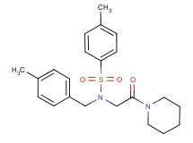 4-methyl-N-(4-methylbenzyl)-N-[2-oxo-2-(1-piperidinyl)ethyl]benzenesulfonamide (non-preferred name)