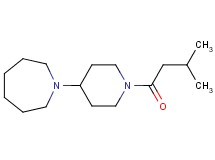1-[1-(3-methylbutanoyl)-4-piperidinyl]azepane oxalate