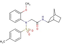 N~1~-bicyclo[2.2.1]hept-2-yl-N~2~-(2-methoxyphenyl)-N~2~-[(4-methylphenyl)sulfonyl]glycinamide