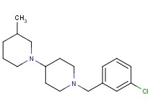 1'-(3-chlorobenzyl)-3-methyl-1,4'-bipiperidine oxalate