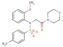 N-(2-methoxyphenyl)-4-methyl-N-[2-(4-morpholinyl)-2-oxoethyl]benzenesulfonamide (non-preferred name)