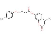 4-methyl-2-oxo-2H-chromen-7-yl 4-(4-methylphenoxy)butanoate