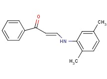 3-[(2,5-dimethylphenyl)amino]-1-phenyl-2-propen-1-one